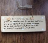 Shabby Personalised Chic Handpainted Plaque Sister Gift